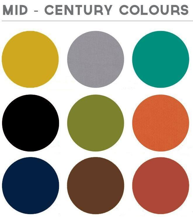 Modern Paint Colors: Mid Century Colour Palette