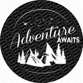 Adventure Jeep Spare Tire Cover Custom Tire Cover Vinyl One Or