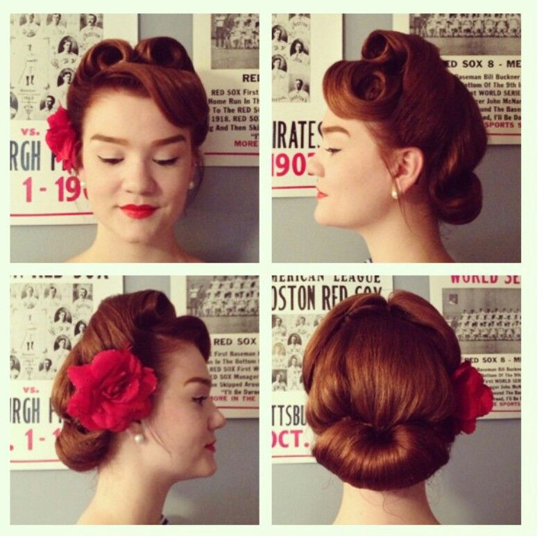 Victory Rolls Retro Hairstyles Hair Styles Vintage Hairstyles