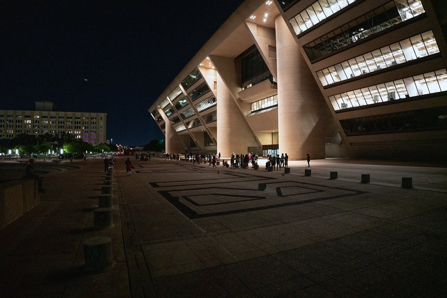 On the Plaza of Dallas City Hall, 'Black Lives Matter' D