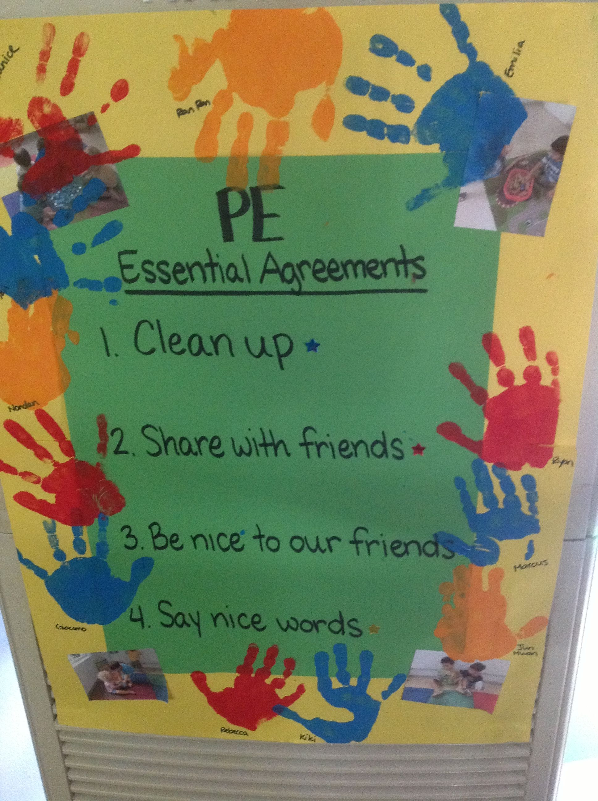 Classroom Essential Agreements
