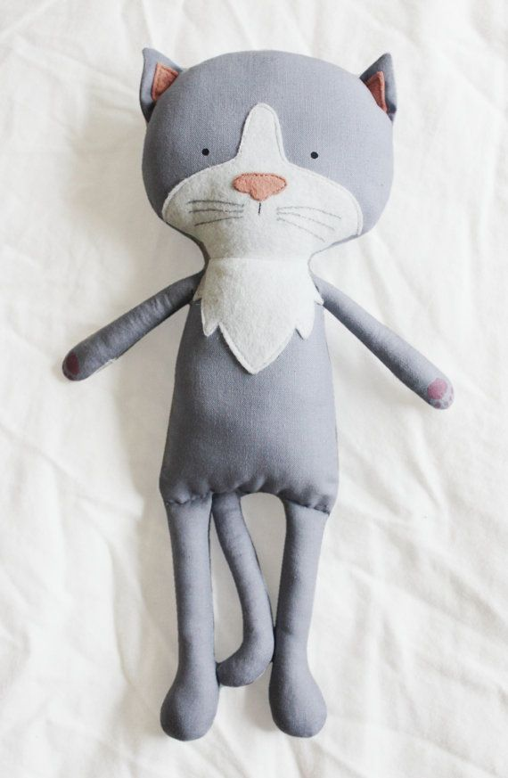 Cat Sewing Pattern Kitten Softie Plush Toy Cloth Doll