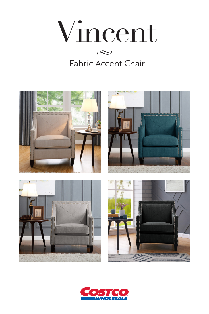 Vincent Fabric Accent Chairs Are Sleek And Comfortable With High Density Foam Seat Cushioning On Fabric Accent Chair Arm Chairs Living Room Comfy Leather Chair