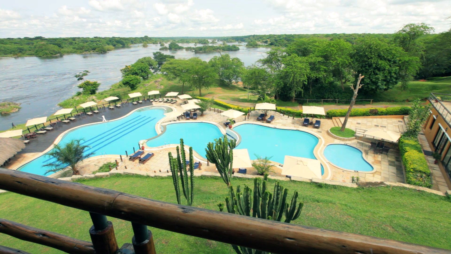 Episode 2: The epic view from the standard room at Chobe Safari Lodge