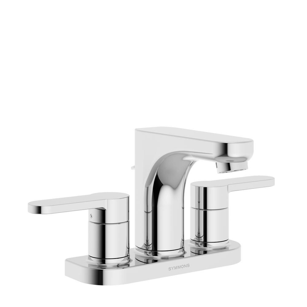 Symmons Identity 4 in. Centerset 2-Handle Bathroom Faucet with Pop ...