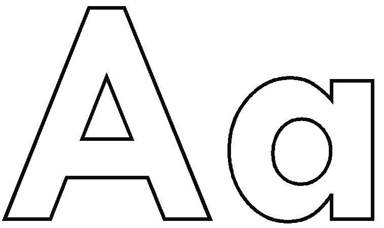 coloring-pages-alphabet-letters-letter-a2.jpg | Atividades de ...