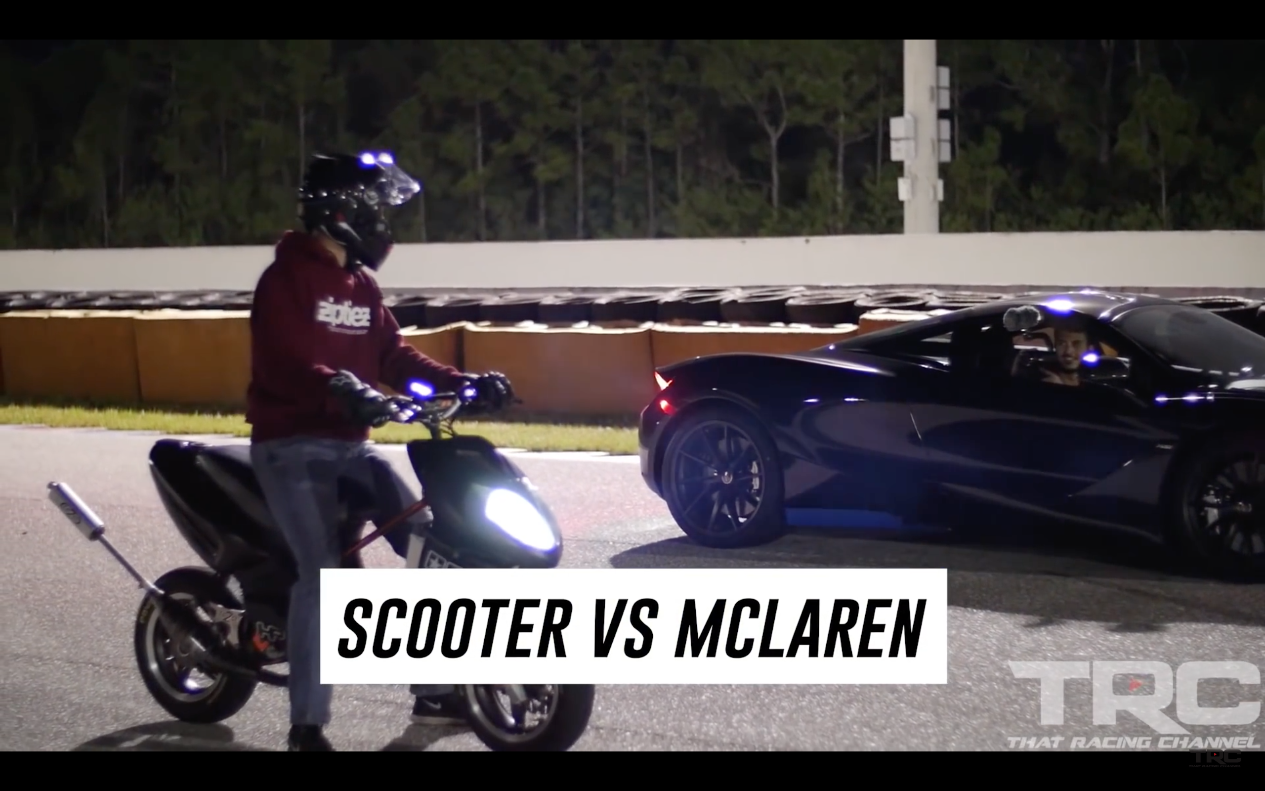Video Scooter Vs Srt Hellcat Vs Mclaren 720s Srt Hellcat