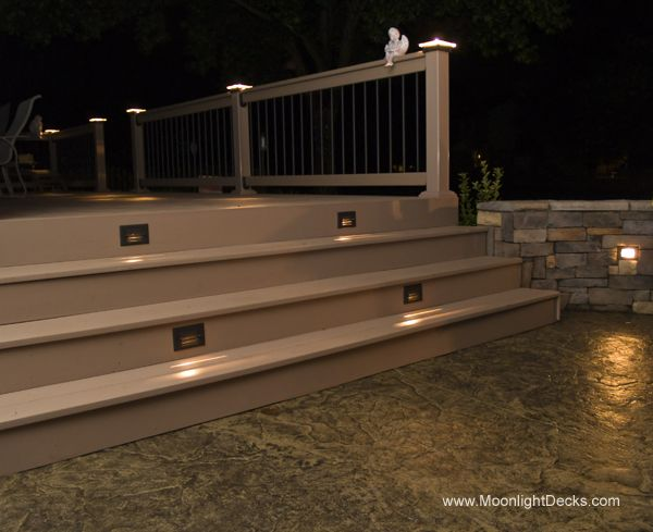 Deck lighting using low voltage lighted post caps under railing led deck lighting using low voltage lighted post caps under railing led lights and step aloadofball Choice Image
