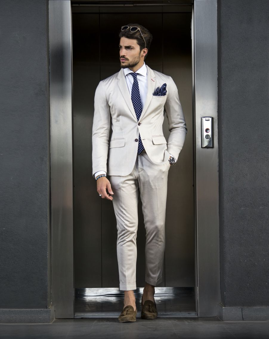 6868552a322 Mariano Di vaio • Summer beige suit • men s fashion shop on  www.nohowstyle.com