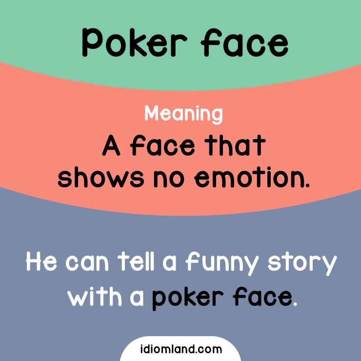 Can you keep a poker face while watching a comedy movie? #idioms #english  #learnenglish #englishidioms #p… | English vocabulary words, Learn english,  English idioms