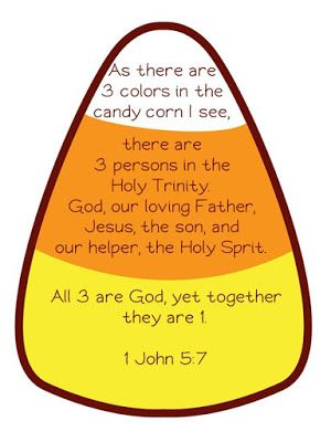Holy Trinity Candy Corn More Sunday School Kids Childrens