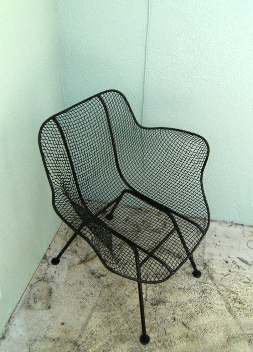 On Hold 2 Woodard Sculptura Patio Chair Set Mid Century Modern Eames Chaise Fauteuil Mobilier De Salon Et Mobilier