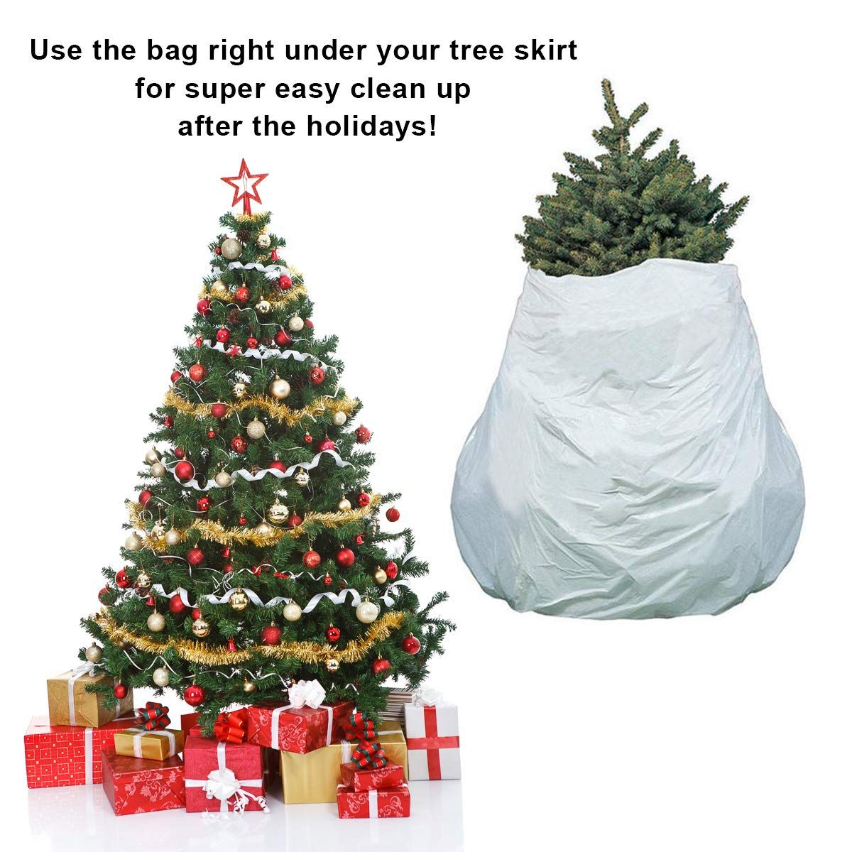 Pursell 2 Pack Christmas Tree Storage Removal Bag 2in1 Holiday Cleanup Recyclable Biodegradabl Christmas Tree Storage Christmas Tree Storage Bag Christmas Tree
