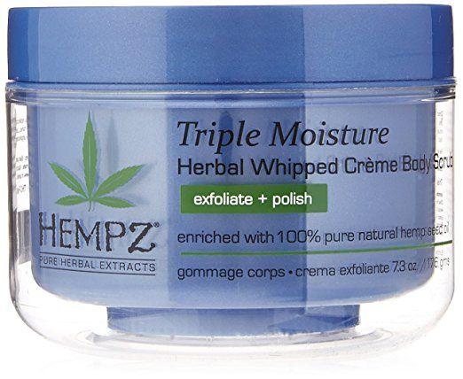 Hempz Triple Moisture Herbal Whipped Creme Body Scrub Light Blue
