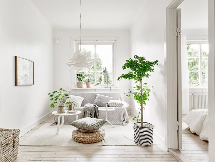 Peque o piso n rdico decorado con materiales naturales for Decoracion nordica pisos pequenos