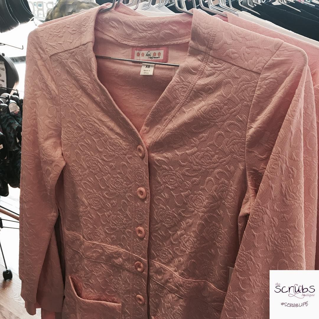 50175b9d388 Try the Blush Claire Sweater from Koi for those cold days at work! 😍 # scrubsboutique #scrublife #sweaters #scrubs