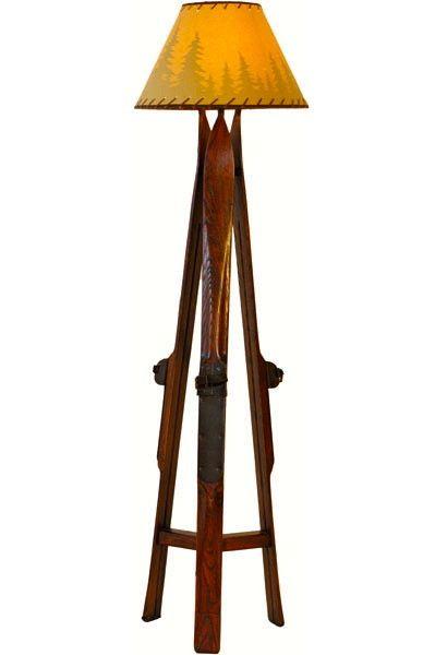 Vintagewinter Ski Floor Lamp Floor Lamp Tripod Lamp