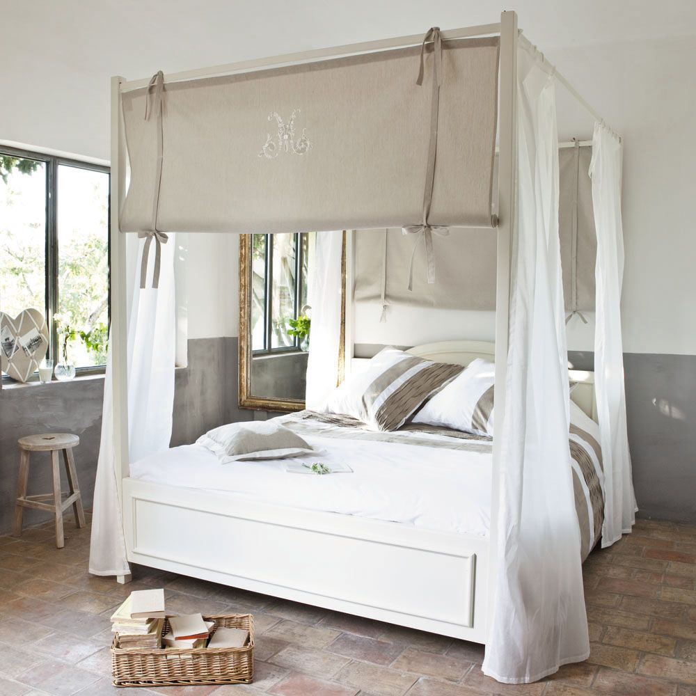 Maison Du Monde Letto Baldacchino.Literie 床幔 Four Poster Bed Bed Easy Diy Room Decor