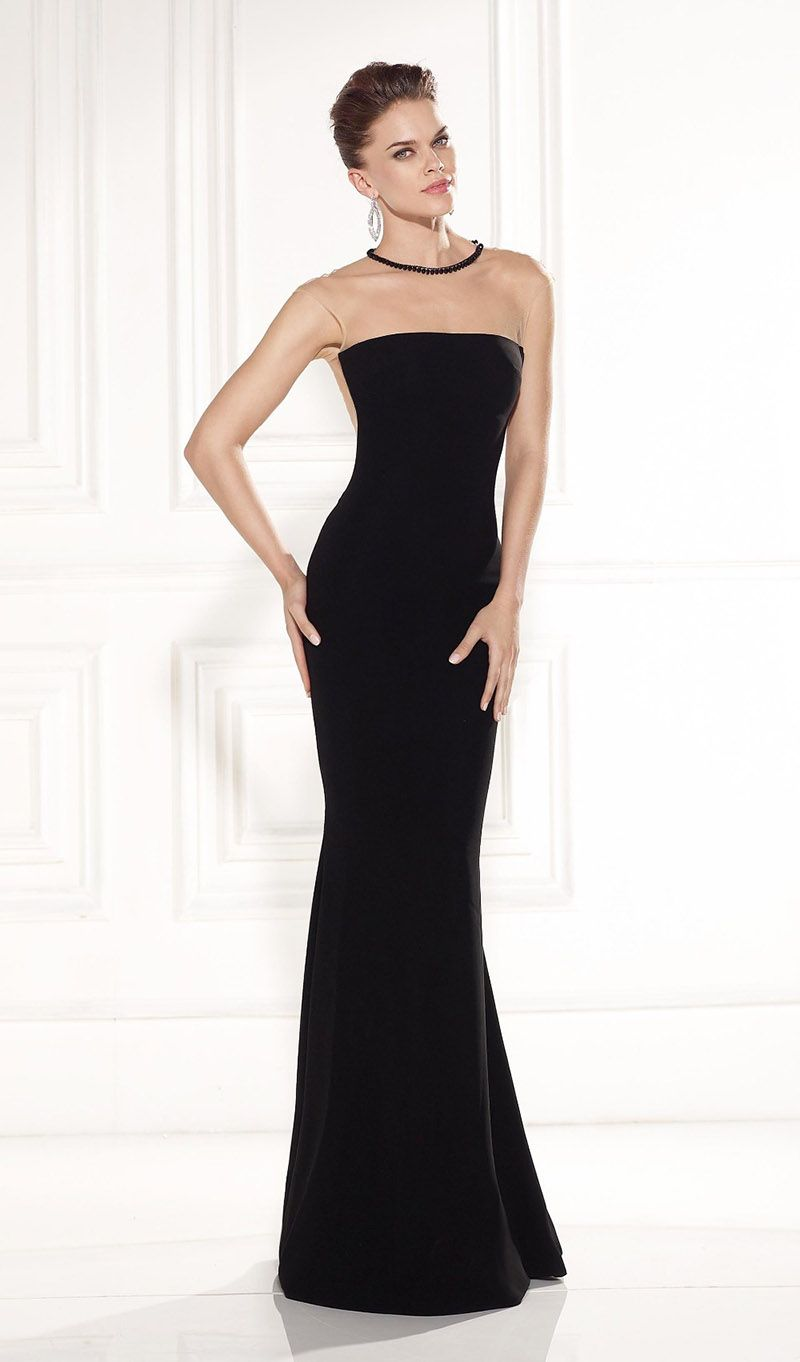 Fashionable Party Gowns O-Neck Long Black Formal Dress Vestidos ...
