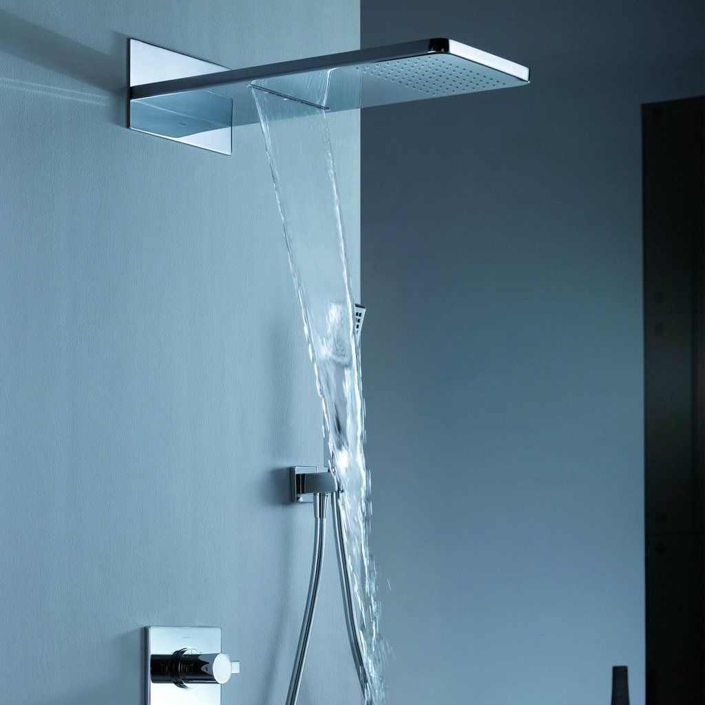 DAX Shower System, Faucet Set, with Square Rain Waterfall