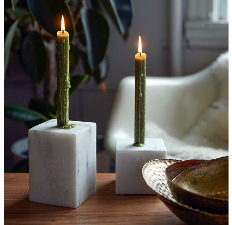 Marble Block Taper Candle Holder - ACCENTS - Our Products