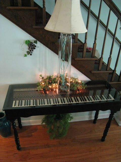 Repurposed For Life Piano Keyboard Made Into A Table Diy