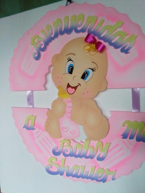 Baby showers icopor anime bebe cartel de bienvenida for Decoracion habitacion bebe goma eva