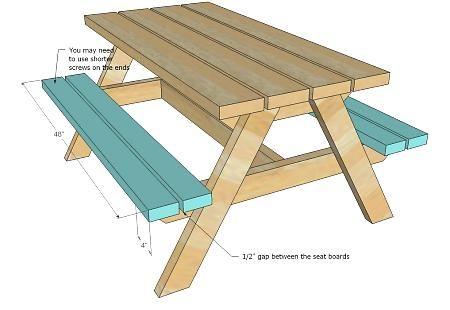 Diy Children S Picnic Table Pallets Picnic Table Plans Kids