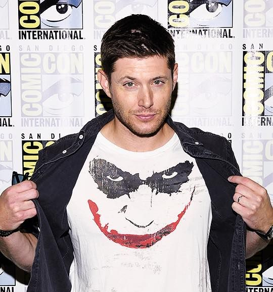Image result for jensen ackles  joker shirt