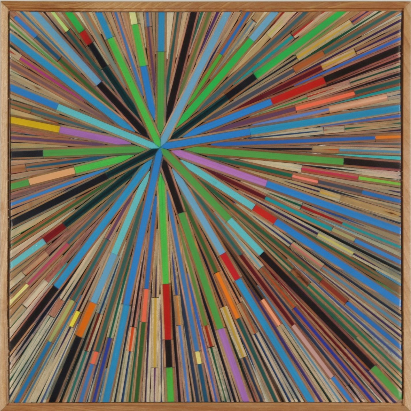 "David Poppie - orbit  15"" x 15""  colored pencils  2008"