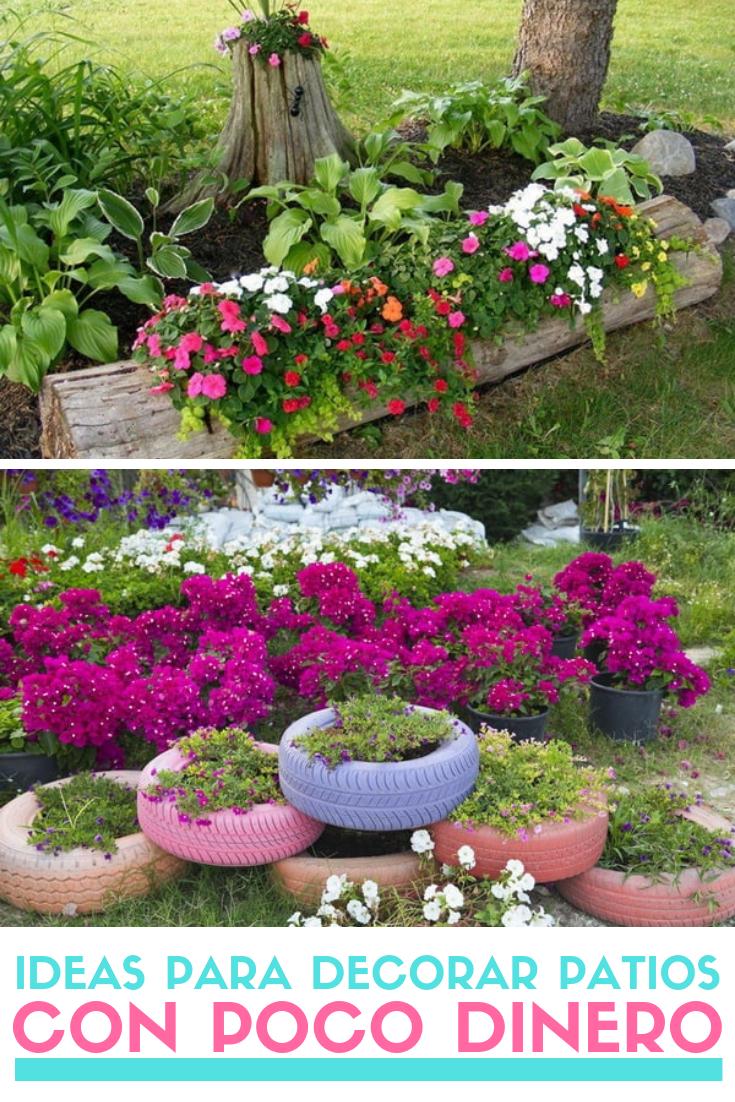 Ideas Para Decorar Patios Con Poco Dinero Decoracion Low Cost Jardines Decorar Jardin Con Piedras Jardineria En Macetas