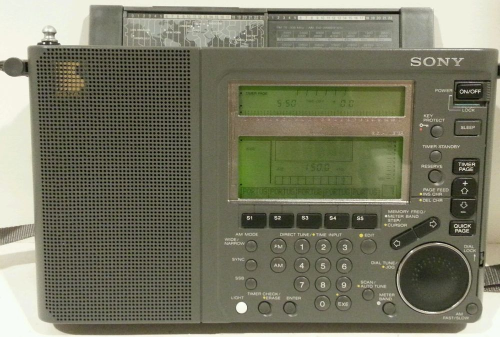 Sony Radio World Band Receiver Icf Sw77 Fm Stereo Lw Mw Sw 162