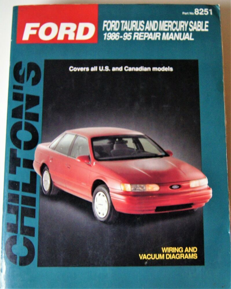 hight resolution of total car care repair manuals ford taurus and sable 1986 95 by chilton