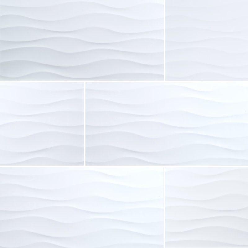 Dymo 12 X 24 Ceramic Fabric Look Tile White Bathroom Tiles Bathtub Tile Surround Ceramic Wall Tiles