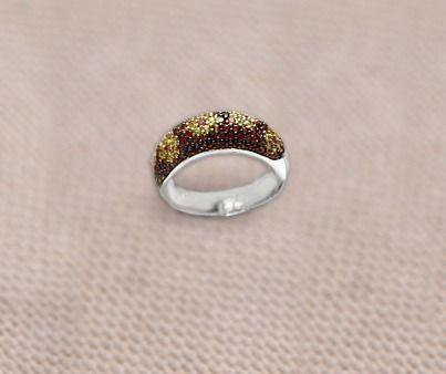 7680a62c85a2 Кольцо белое золото 585 пробы вес 5,6 грамм сапфиры желтые и оранжевые 1,