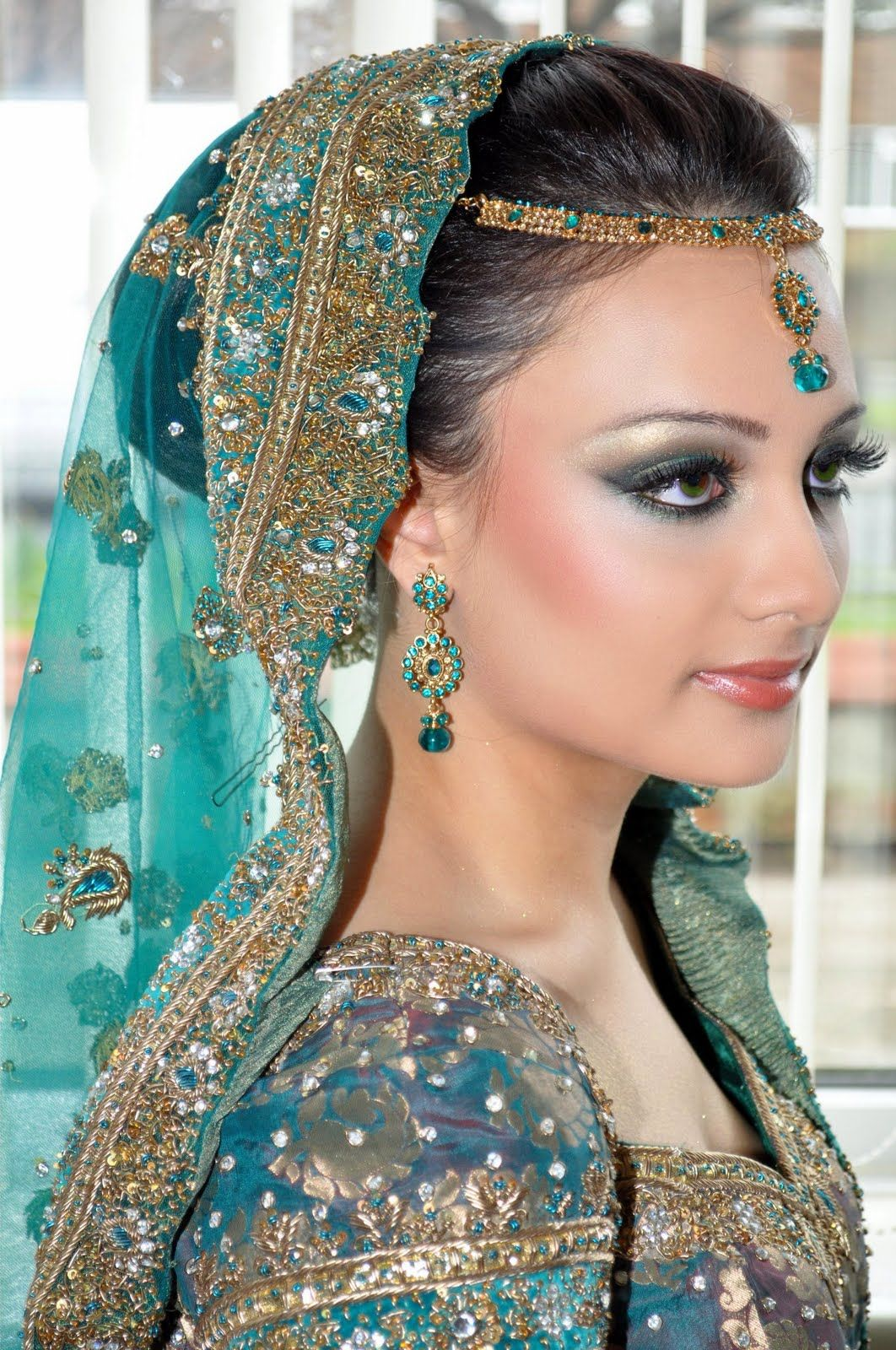 South asian wedding dresses   Bridal Styles for Long Hair  Indian bridal wear Wedding sarees