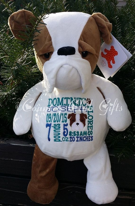 Personalized baby gift stuffed plush dog stuffed animal dog personalized baby gift stuffed plush dog stuffed animal dog keepsake embroider buddy negle Images