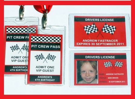 Racing Car Drivers License And Pit Crew P Love This For Bennys Birthday