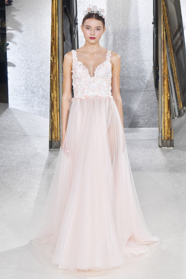 Kaviar Gauche Spring 2018 Wedding Dresses La Vie En Rose sleeveless a line wedding dress #weddingdress #weddinggown #floralapplique