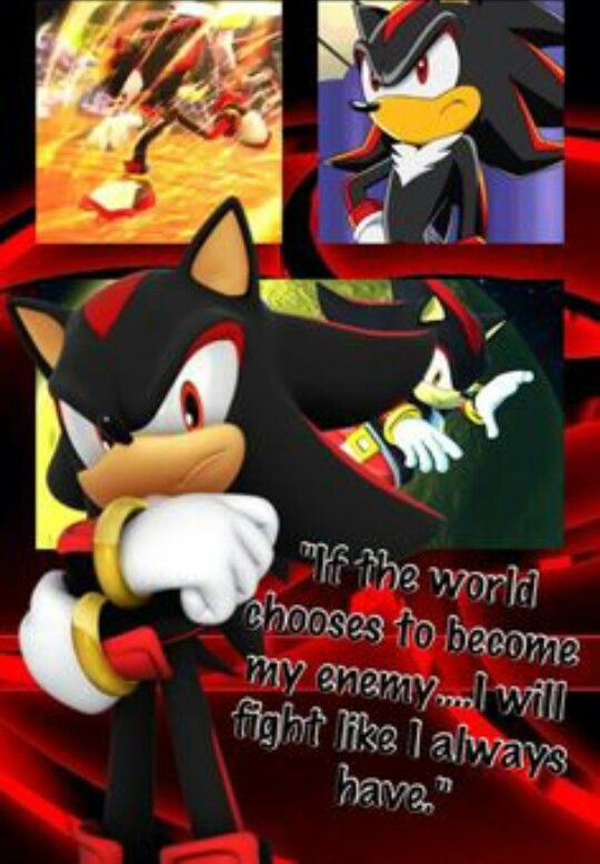 Shadow's Quote | Sonic the Hedgehog | Shadow the hedgehog