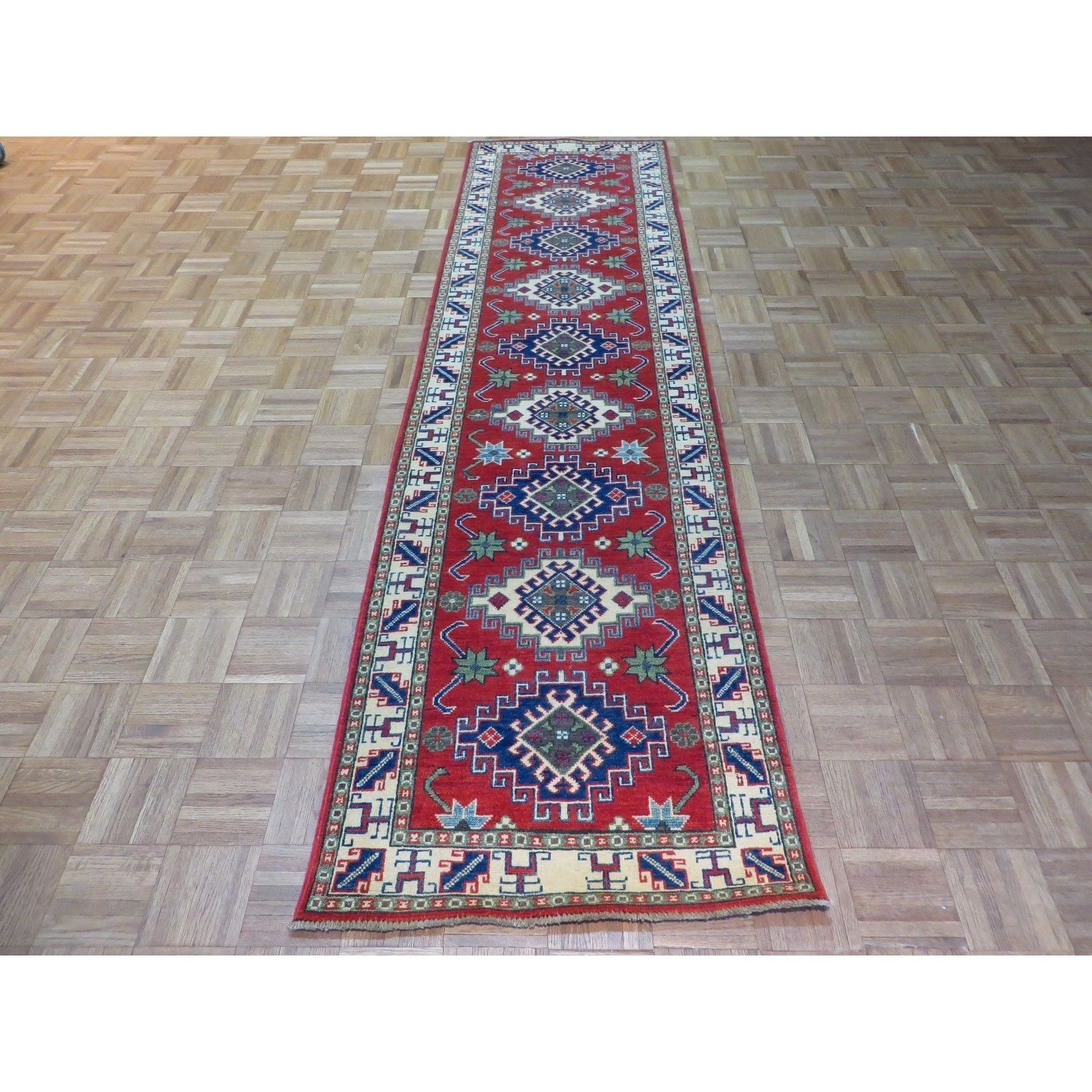 Kazak Red Hand-knotted Rug