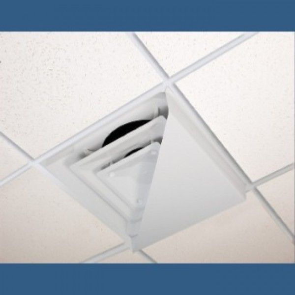 Corner Air Diverter For 2 X2 Ceiling Diffuser Winter