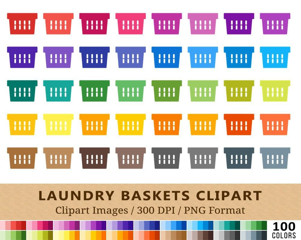 100 laundry basket clipart baskets clip art rainbow colors washing cleaning  [ 1000 x 800 Pixel ]