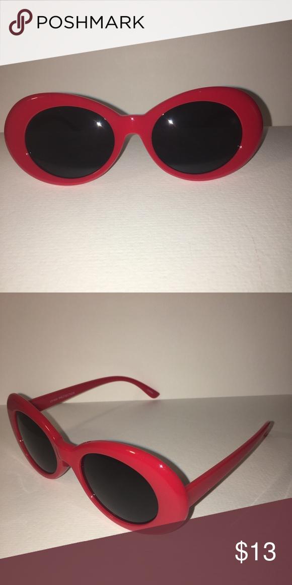 e48dc5e1f065c Red frame sunglasses! Thick framed with black lens sunglasses ...