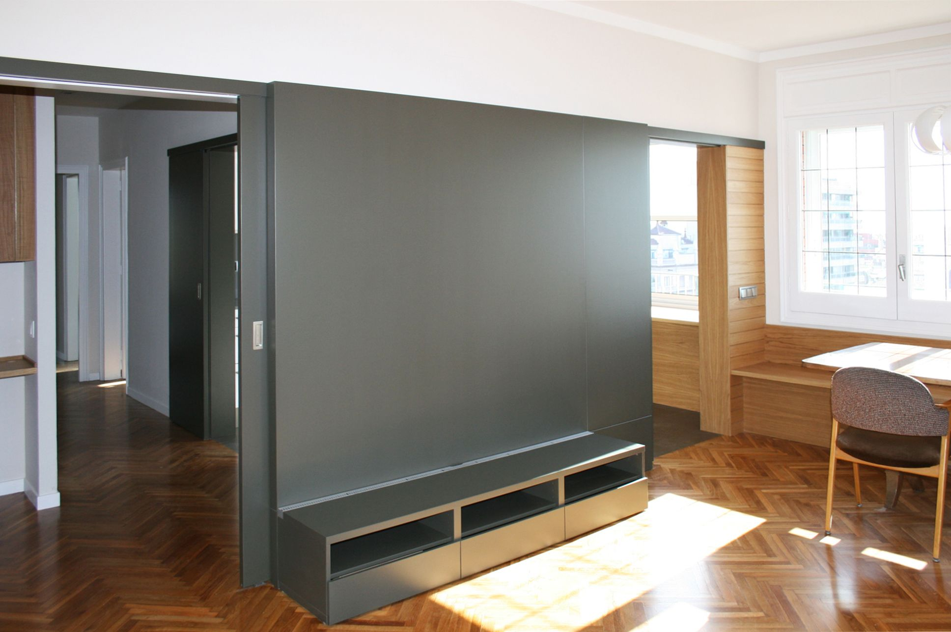 Comedor Sala De La Tv Moderno Decoracion Via Planreforma  # Muebles En El Puig
