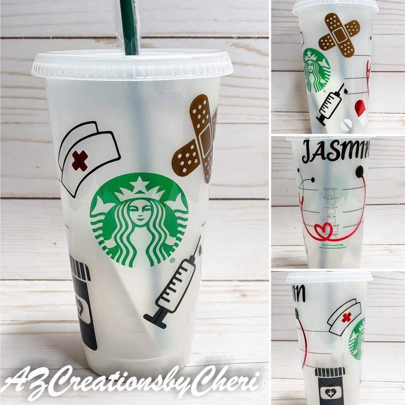 Nurse Themed Venti Starbucks Cold Cup   Etsy