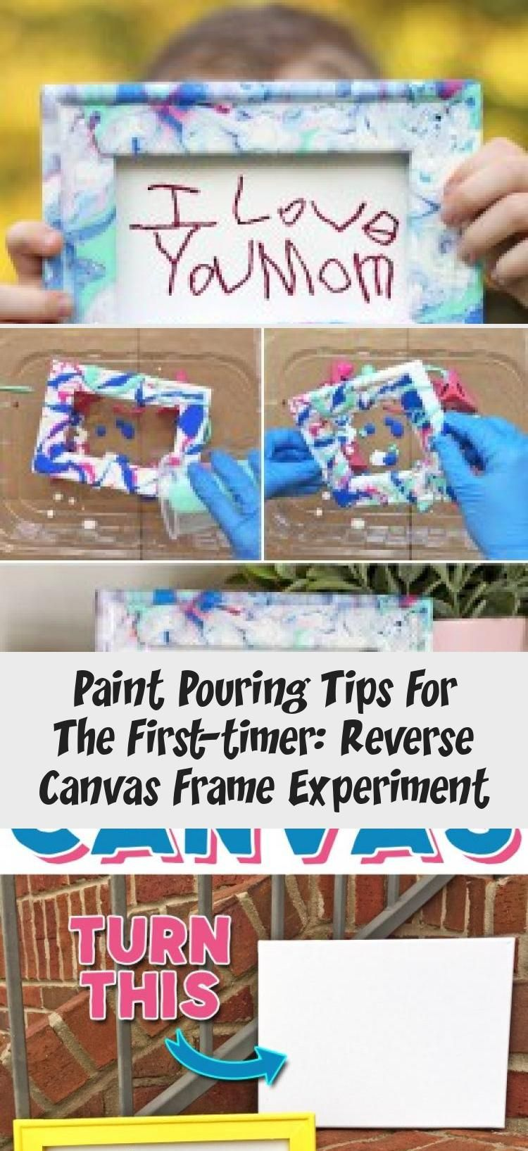 Paint Pouring Tips For The First-timer: Reverse Canvas Frame Experiment Learn how to make your own paint pouring art with these simple tips for beginners! Paint Pouring Tips for the First-Timer: Reverse Canvas Frame Experiment | Where The Smiles Have Been
