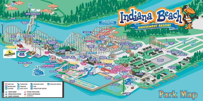 Indiana Beach Map Indiana Beach Amusement Resort | Favorite Places | Indiana beach