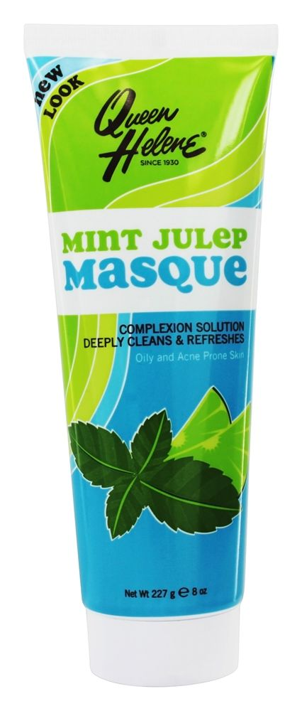 The Original Facial Masque Trial Size Mint Julep - 2 oz. by Queen Helene (pack of 2) Fast Fix Facial Sheet Mask Anti-Wrinkle Camu Camu - 1 Count by Alba Botanica (pack of 3)