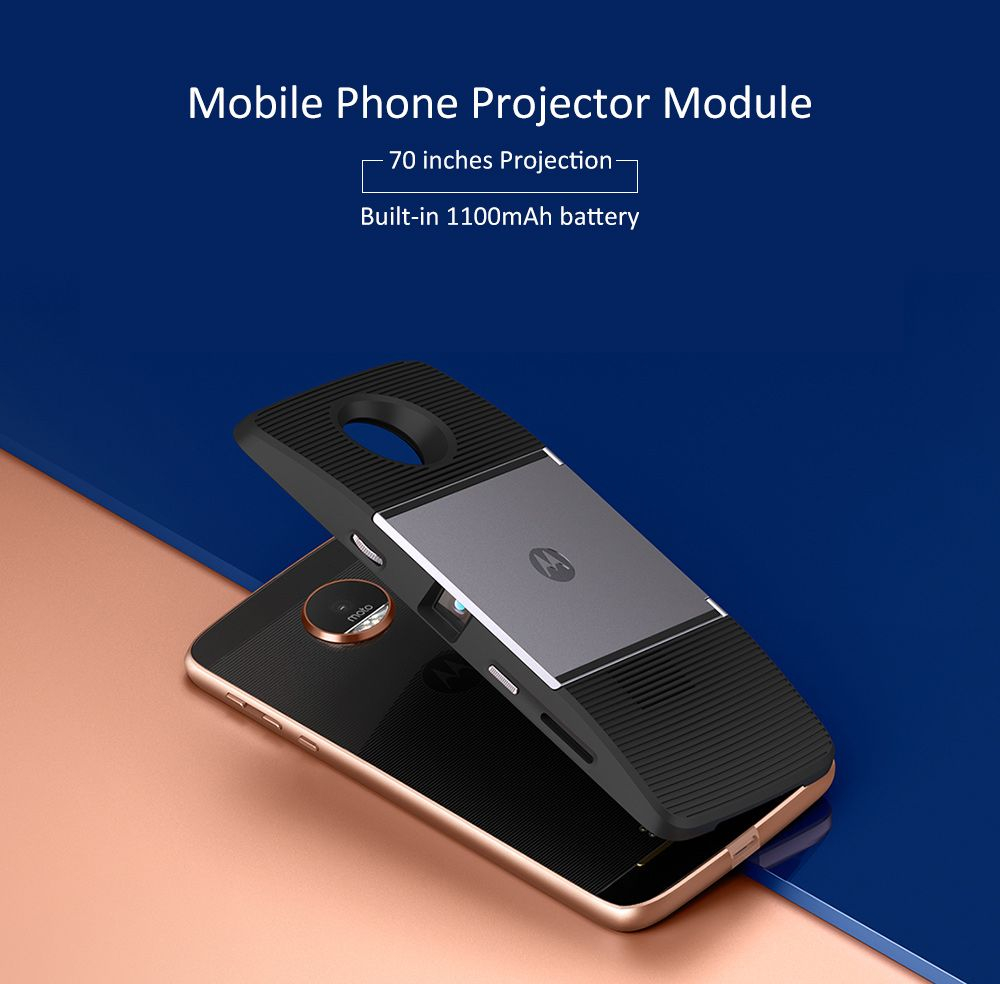 523b0aaf252e5d Original Motorola Mobile Phone Projector Module 70 inches Projection  1100mAh Battery for Moto Z / Z Play